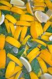 冷的自创柠檬水 库存照片