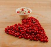 冷的莓果心脏 免版税库存图片