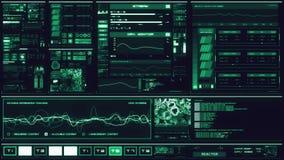 冷的蓝色未来派接口/数字式screen/HUD 影视素材