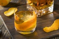 冷的酒精古板的波旁威士忌酒鸡尾酒 图库摄影