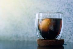 冷的酿造咖啡 库存图片