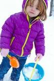 冷的雪天 免版税库存照片
