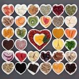 冷的治疗的健康食物 免版税库存图片
