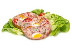 冷盘开胃菜在果冻的 免版税库存照片