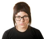 冷笑的女性成人 免版税库存照片