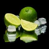 冷绿色冰石灰 免版税图库摄影