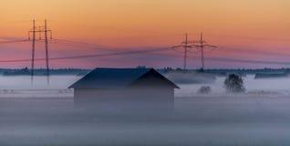 冷薄雾上升 图库摄影