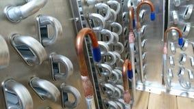 冷藏在板台的冷凝器蒸发器 免版税库存照片