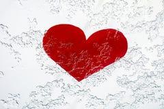 冷重点 3d重点冰 心脏在冬天 库存照片