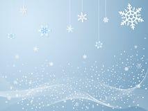 冷雪花冬天 向量例证