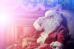 冷静圣诞老人 免版税图库摄影