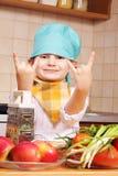 冷静的厨师 库存照片
