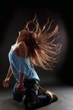 冷静舞蹈演员妇女 免版税图库摄影
