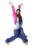 冷静舞蹈演员妇女 免版税库存图片