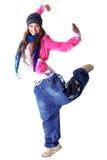 冷静舞蹈演员现代妇女 库存图片