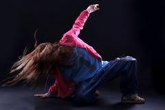 冷静舞蹈演员现代妇女 免版税库存照片