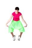冷静舞蹈演员现代妇女 免版税库存图片