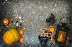 冷面万圣节例证收割机集合女巫吸血鬼向量 免版税库存图片