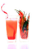 冷颤的热汁液 库存图片