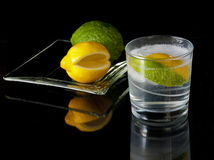 冷饮柠檬lim夏天 免版税库存照片
