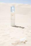冷却器在沙漠 免版税库存照片