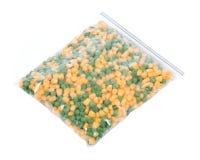 冷冻有机豌豆和玉米 库存图片