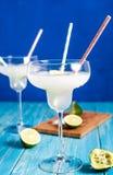 冷冻玛格丽塔酒两glases  库存图片