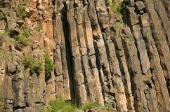 冷却的熔岩流 免版税图库摄影