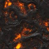 冷却的熔岩 库存照片