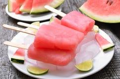 从冷冻西瓜的冰淇凌 库存图片