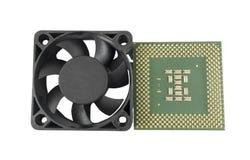 冷却风扇和CPU 免版税图库摄影