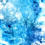 冷xmas冬天纹理背景 免版税库存图片