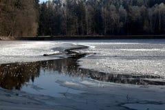 冻土地在冬天 免版税库存图片