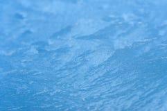 冻挡风玻璃在11月上旬 免版税库存图片