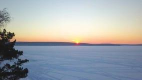 冻河的美丽的景色 r 股票视频