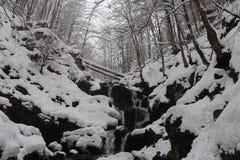 冻瀑布Shipot 库存图片
