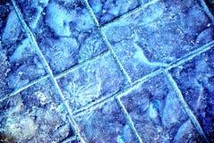 冻结做的路石头 免版税库存图片