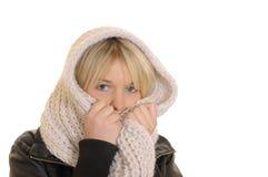 冻结妇女年轻人 免版税库存照片