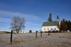 冻结教会在爱达荷。 免版税库存照片