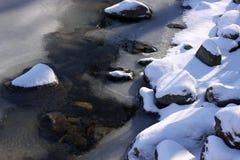 冻结河 图库摄影