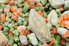 冻结混合蔬菜 免版税库存图片