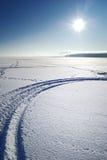 冻结湖 免版税库存图片