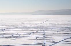 冻结湖 免版税图库摄影