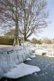 冻结湖 库存图片