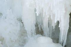 冻结瀑布 免版税库存图片