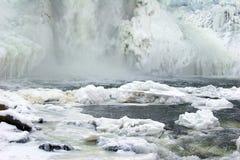 冻结瀑布 图库摄影