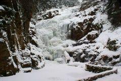 冻结瀑布 库存照片
