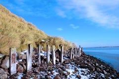 冻结爱尔兰保护的侵蚀 免版税库存照片