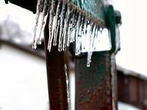 冻结的冰推力 库存照片