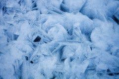 冻结的冰海运纹理 免版税库存照片